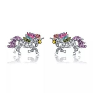 fancy fashions Accessories - Colorful Crystal Unicorn 🦄 Earrings